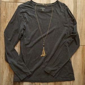 Land's End long sleeve gray tee